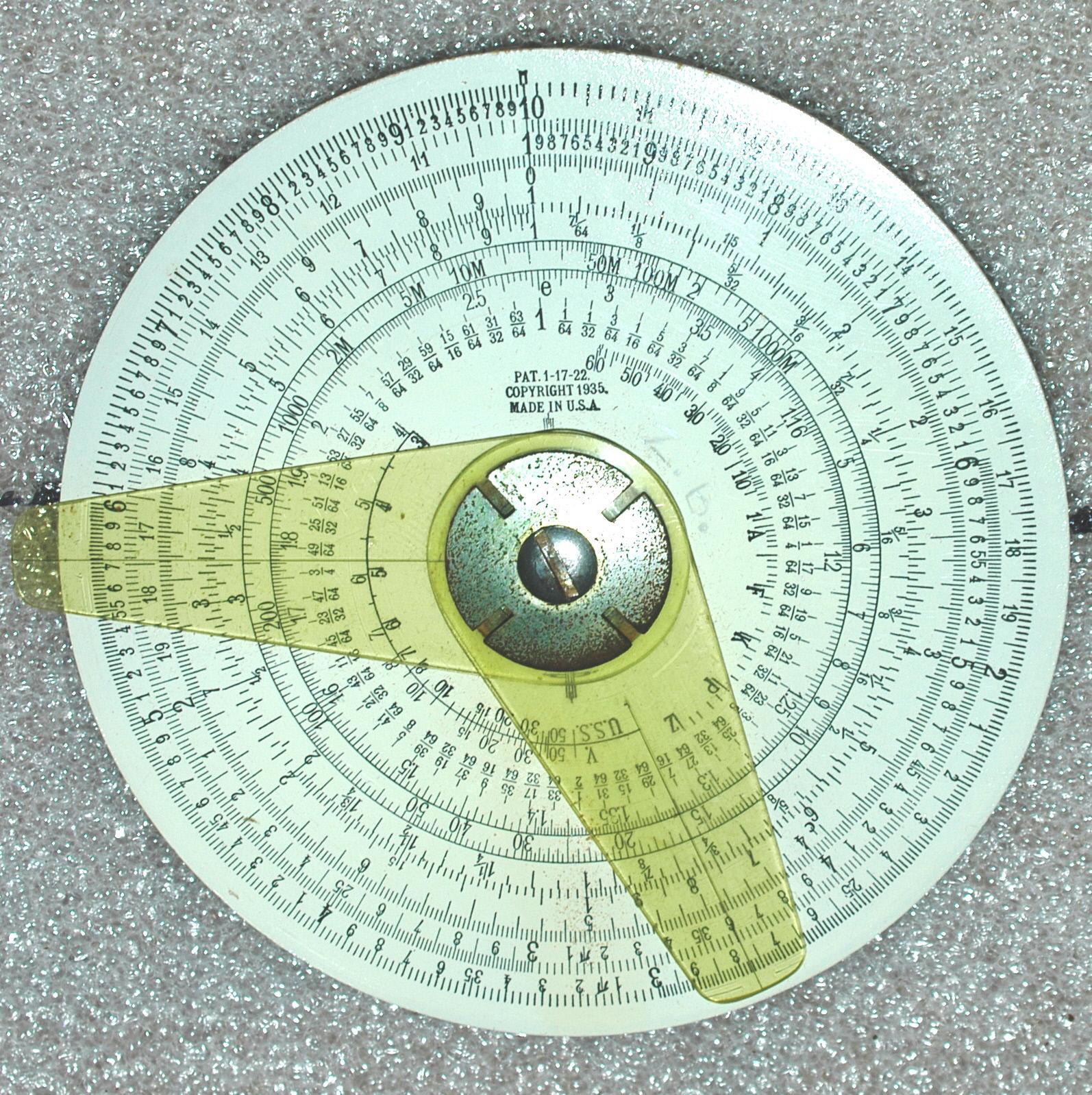 Image of : Circular Slide Rule, William J. Powell