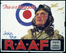 Image of : This is a man's job! Join the R.A.A.F.