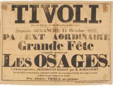 Image of : Tivoli PA Ext Aordinaire Grade Fete A laquelle assisteront Les Osages