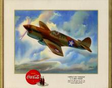 Image of : Curtiss P-40-F Warhawk U.S. Army - Pursuit