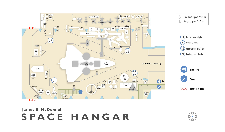 James S Mcdonnell Space Hangar 2004 Floorplan National