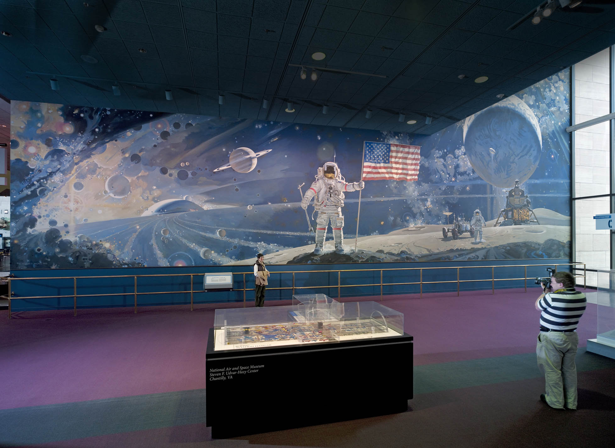 The space mural a cosmic view national air and space for Space themed murals
