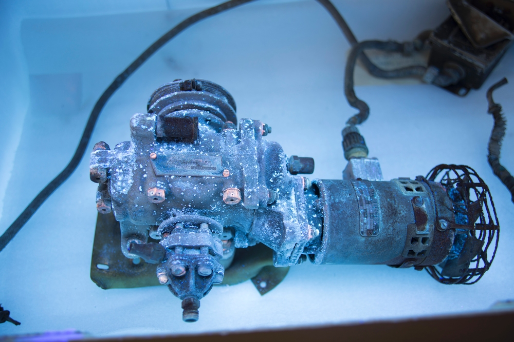 GE Compressor Under UV Light