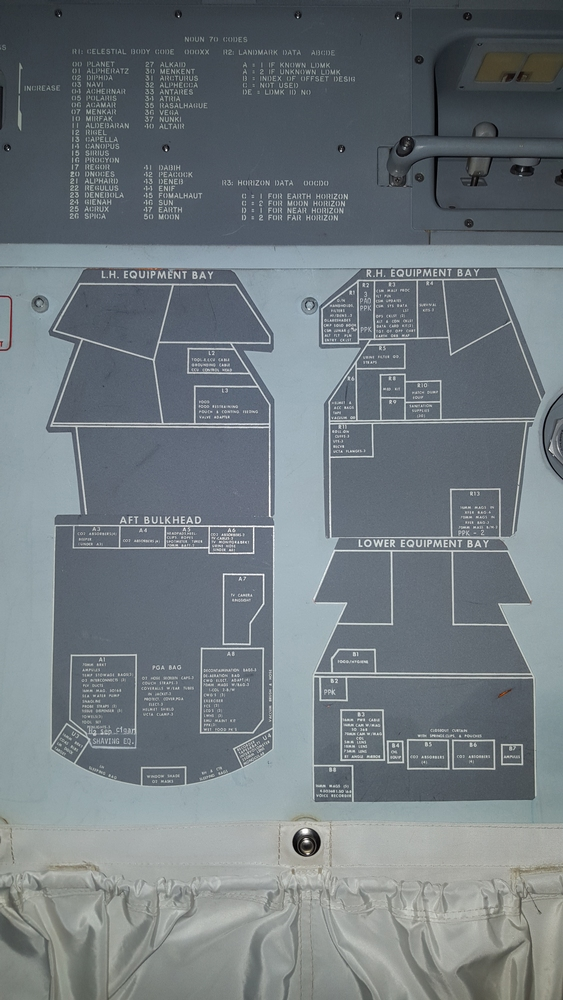 Stowage maps found inside the Apollo 11 Command Module.