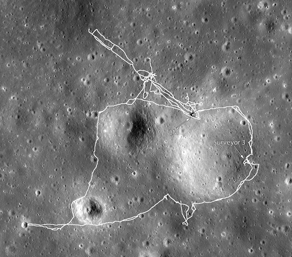 location moon map landing site apollo 12 - photo #43
