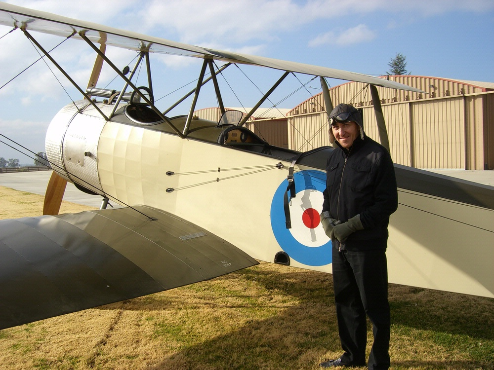 Peter Jakab with WWI Sopwith 1 1/2 Strutter
