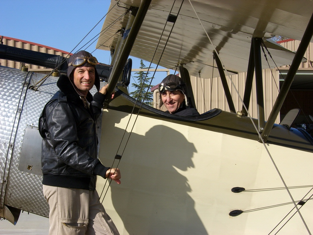 Peter Jakab in a WWI Sopwith 1 1/2 Strutter