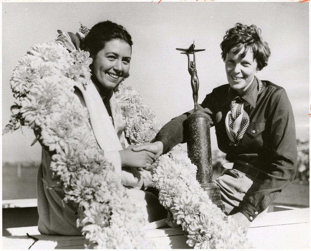 Betty Browning and Amelia Earhart