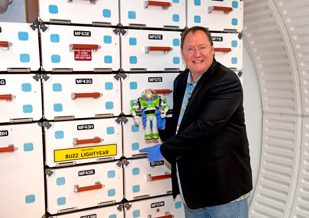 Buzz Lightyear and John Lasseter