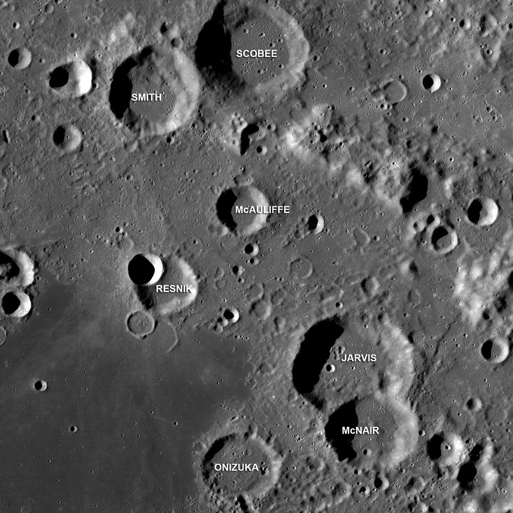 <i>Challenger</i> Astronauts Memorialized on the Moon