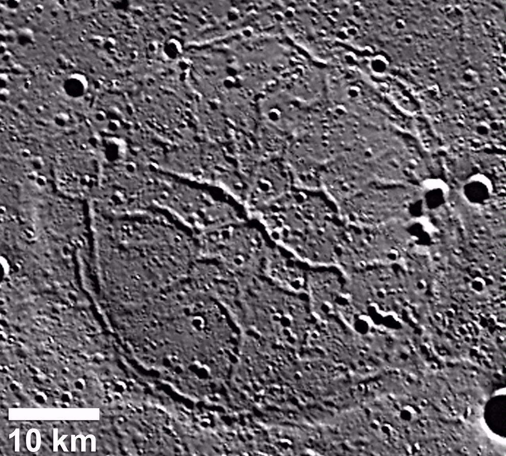 Graben in Goethe Basin on Mercury