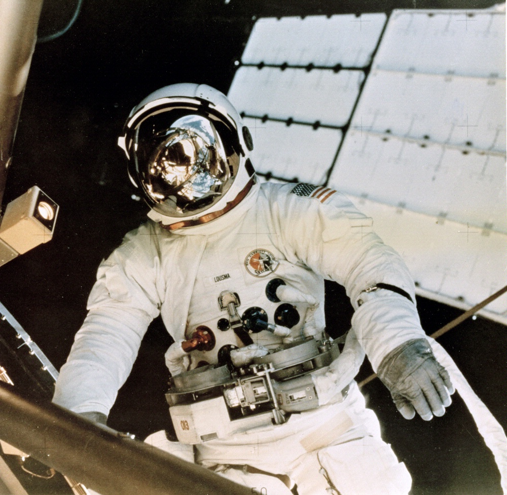 Astronaut Jack Lousma on Skylab 3 Spacewalk