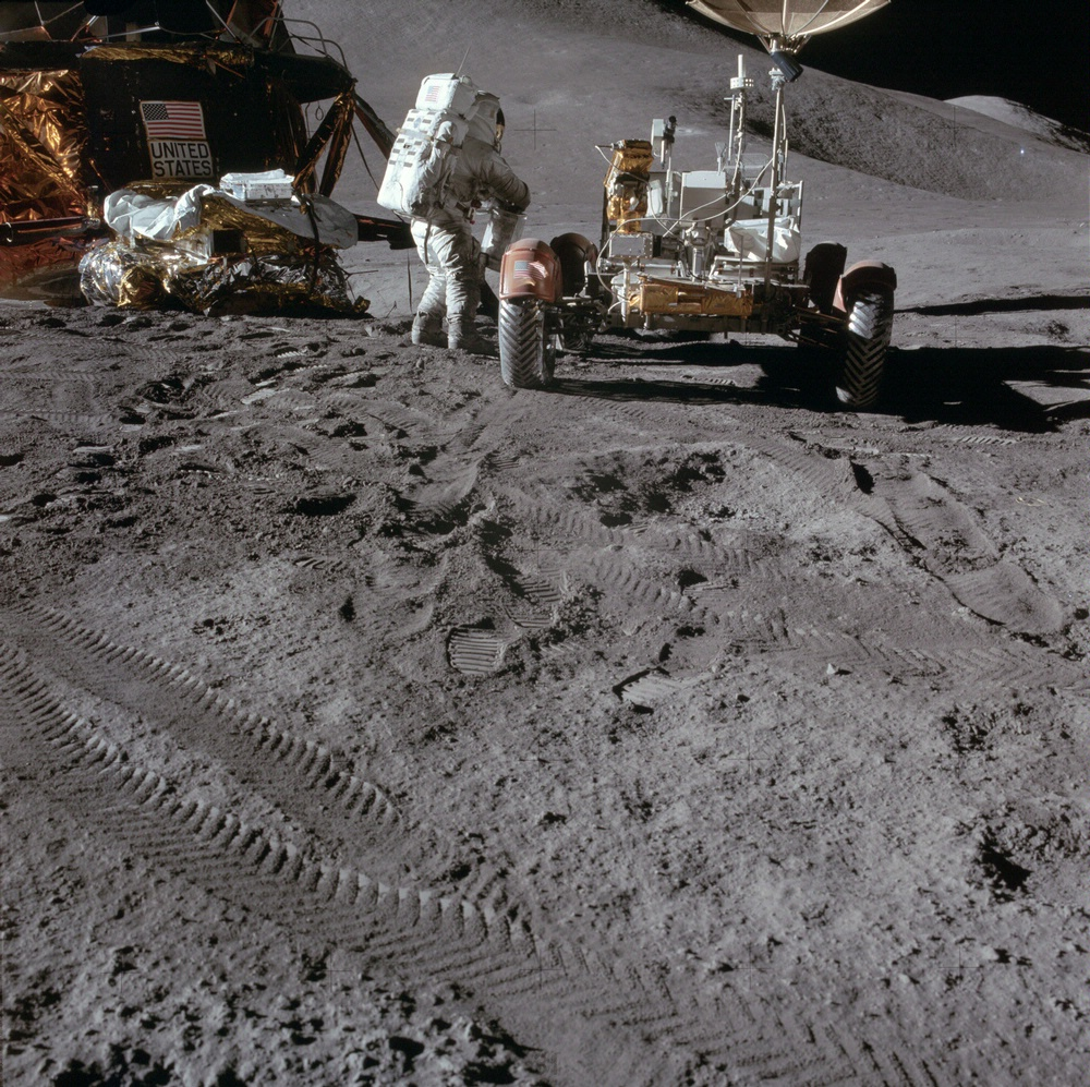 Lunar Roving Vehicle Tracks