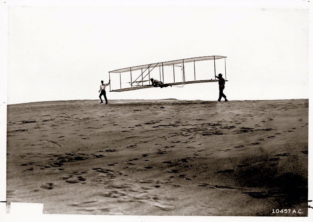 Orville Piloting the 1902 Wright Glider