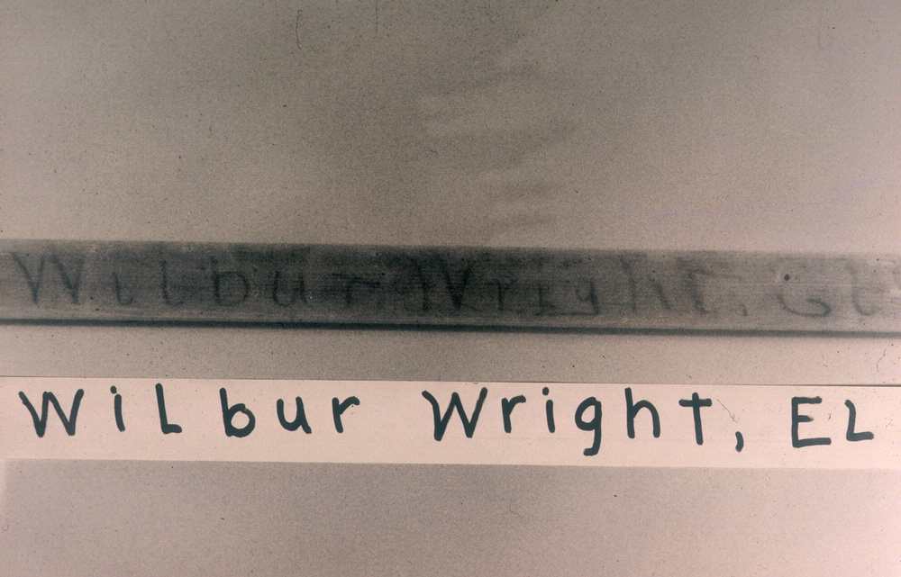 Wilbur Wright's hand-written notations