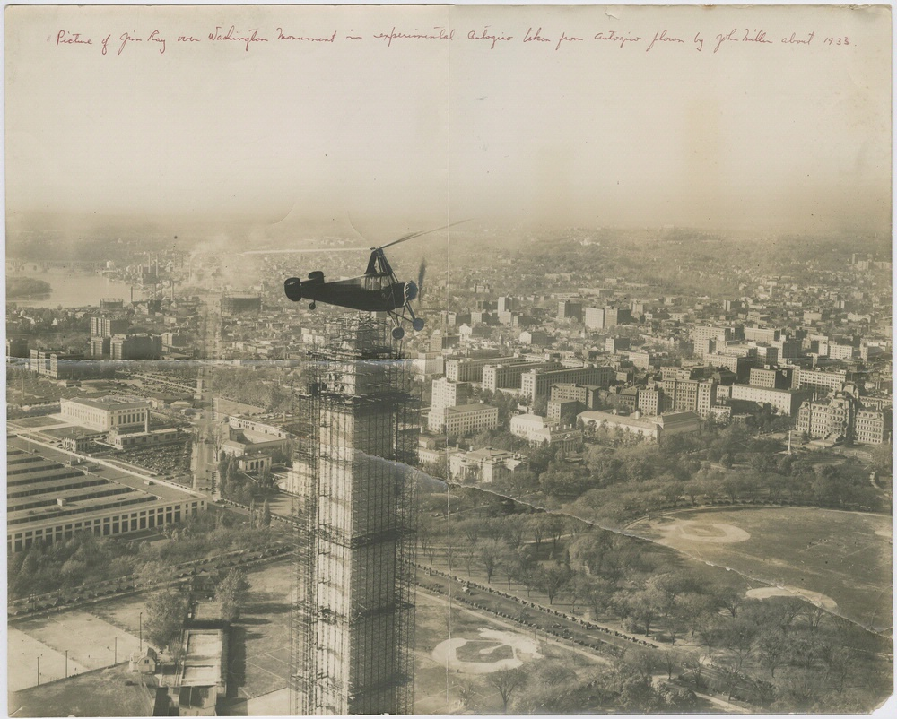 Jim Ray Flies over the Washington Monument