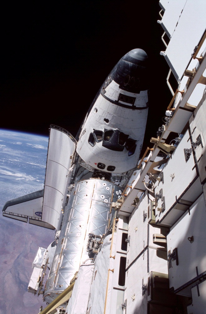 Space Shuttle Atlantis Docked with ISS