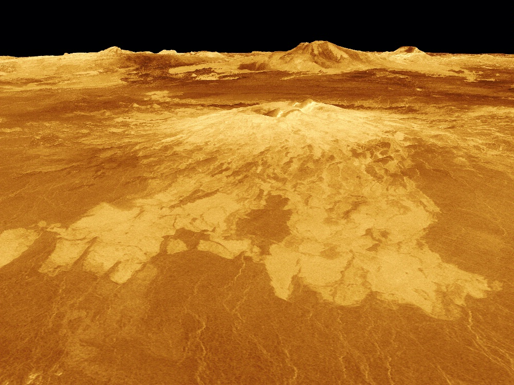 Venus - 3D Perspective View of Sapas Mons
