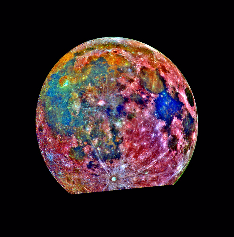 Moon - False Color Mosaic