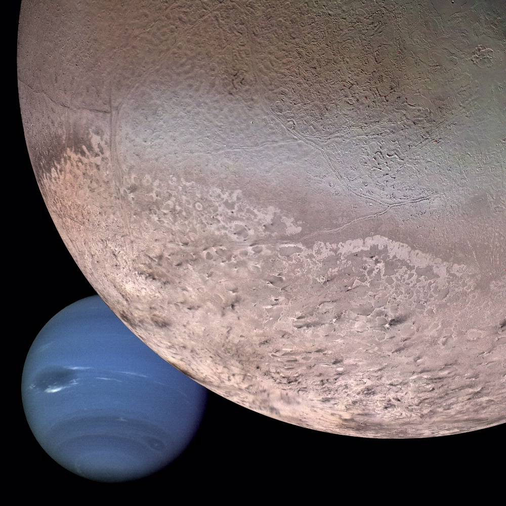 Montage of Neptune and Triton