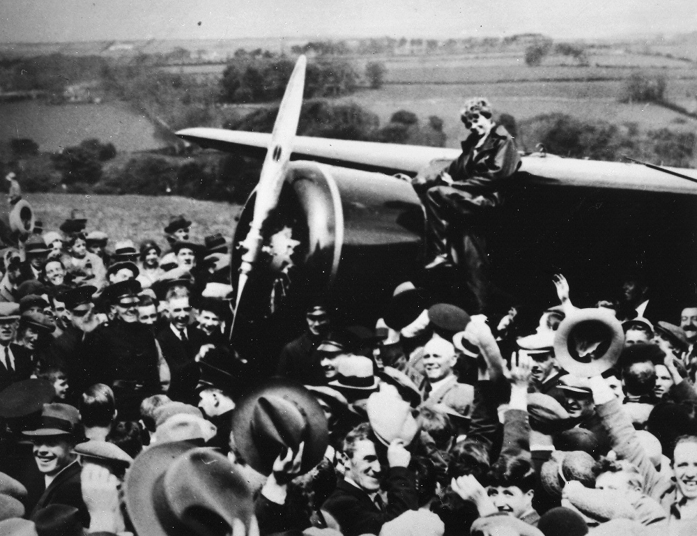 Image result for amelia earhart crosses the atlantic