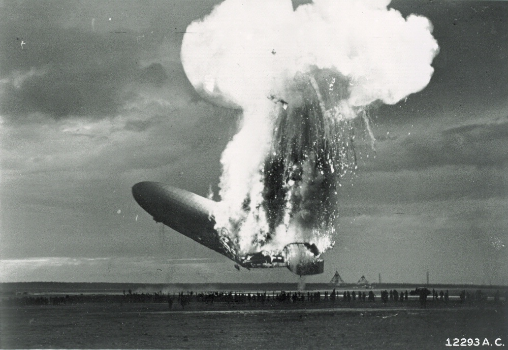 the history of the hindenburg airship crash In tom clancy's sensationalist novel debt of honor, a disgruntled pilot decides  to avenge his lost honor by crashing a fuel-laden 747 directly.
