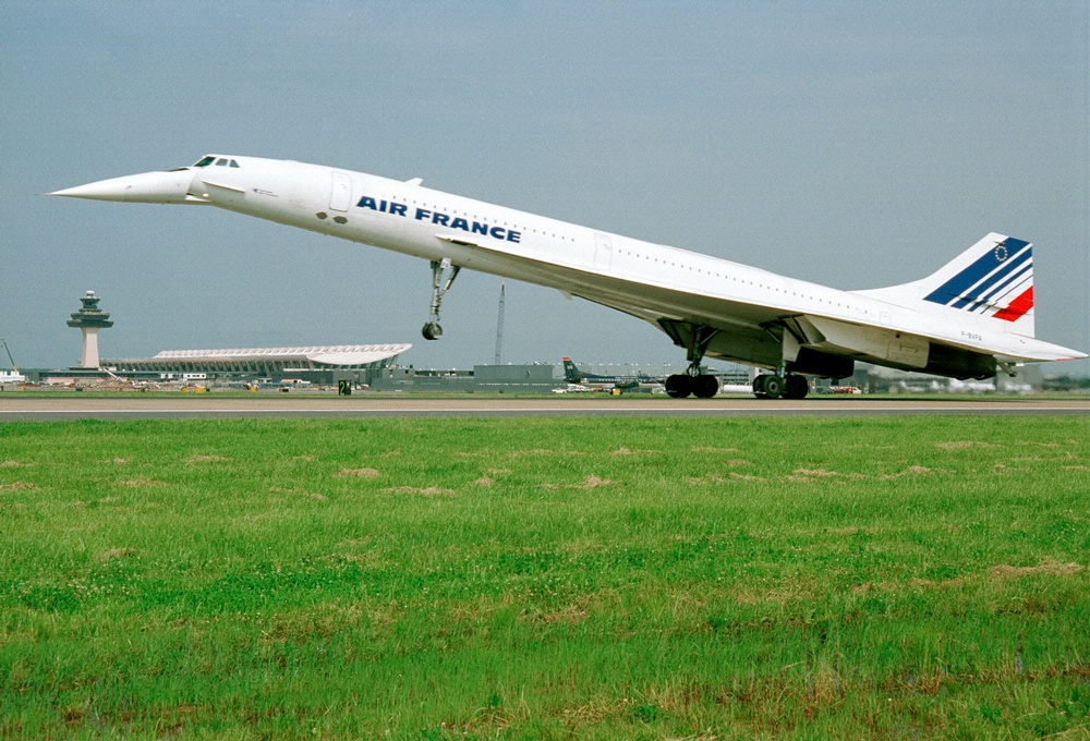 Air France Concorde Arrival at Washington Dulles Airport