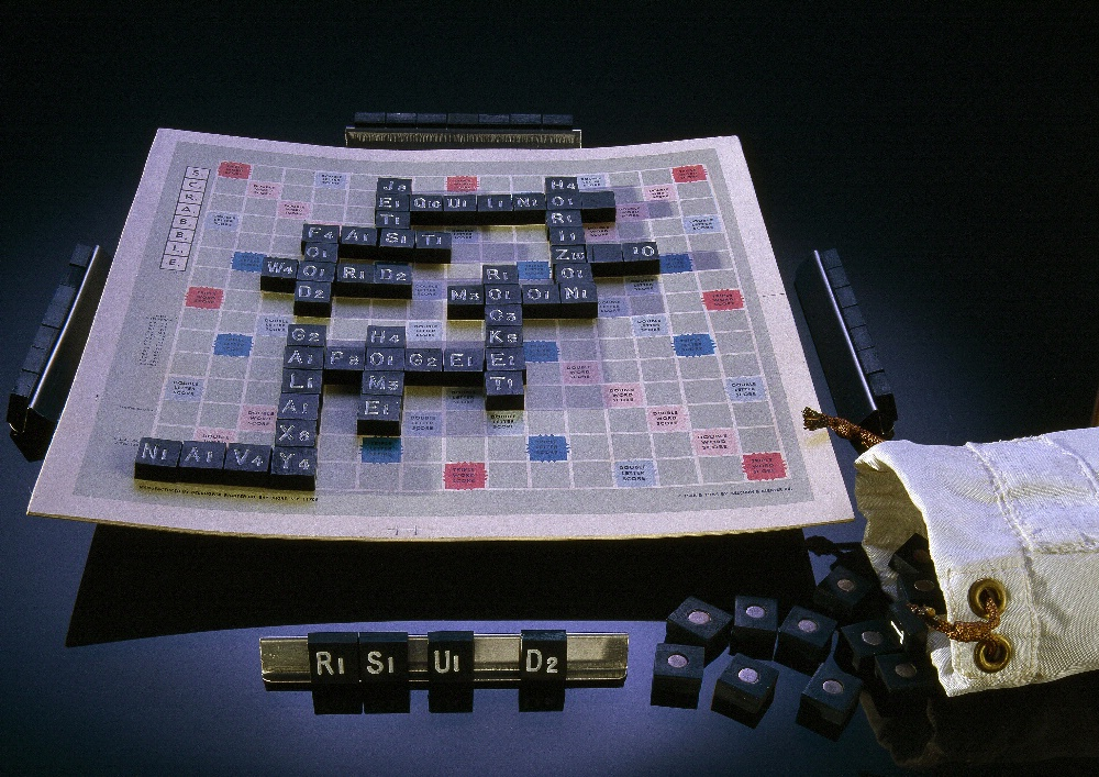 Scrabble Board and Magnetic Letters, Skylab