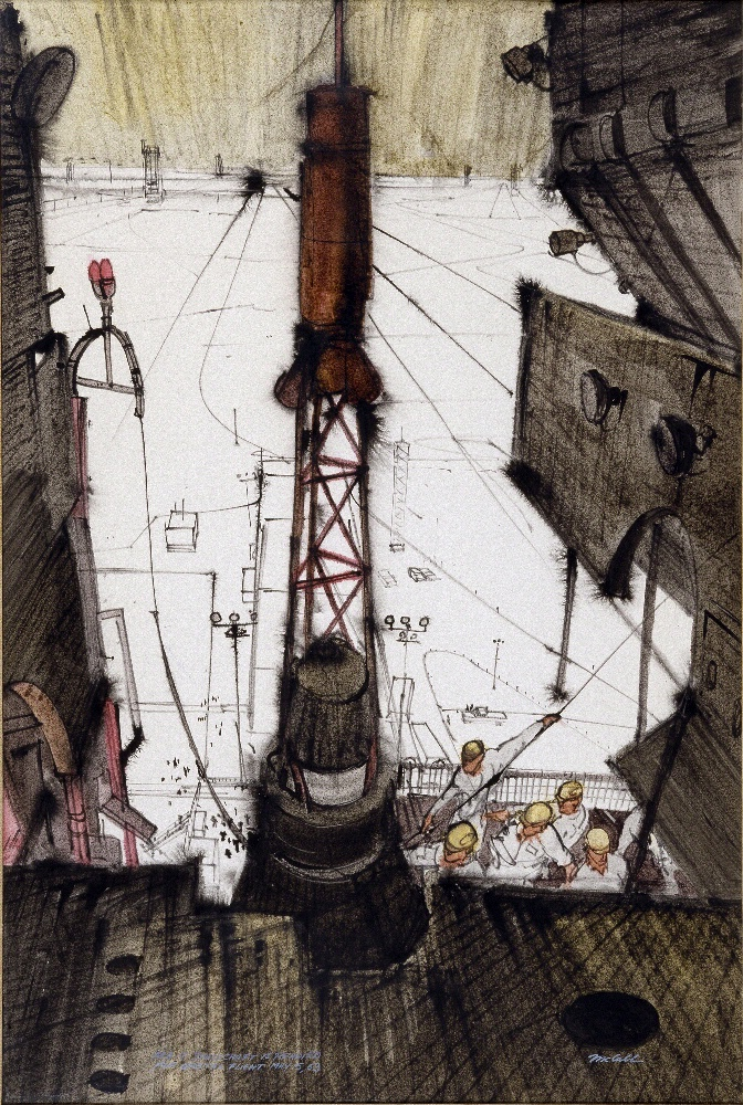 Escape Tower, Painting by Robert T. McCall