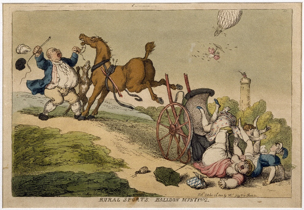 Rural Sports, Balloon Hunting, by T. Rowlandson