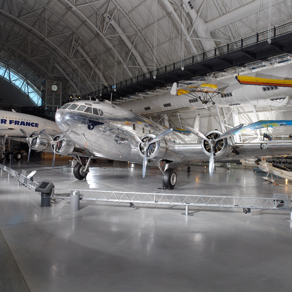 "Boeing 307 Stratoliner   ""Clipper Flying Cloud"" at the Udvar-Hazy Center"
