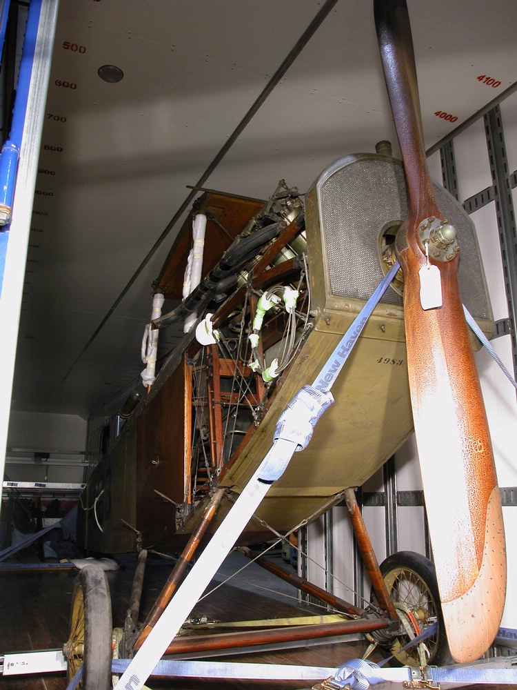 Curtiss JN-4 Jenny Ready for Move to America by Air