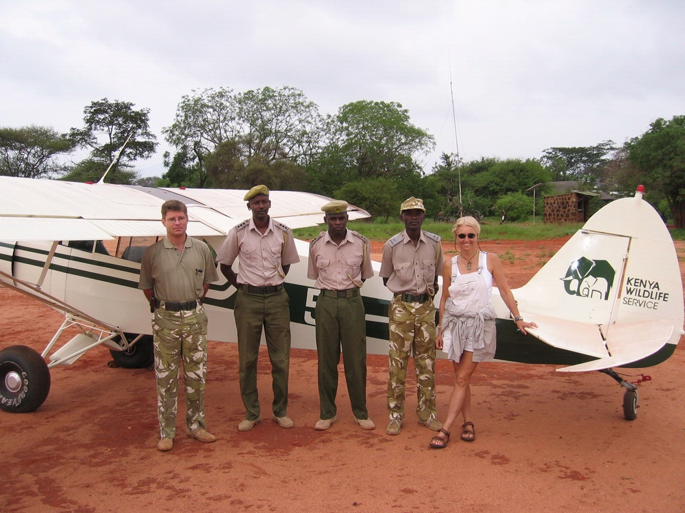 Patty Wagstaff with the Kenya Wildlife Service