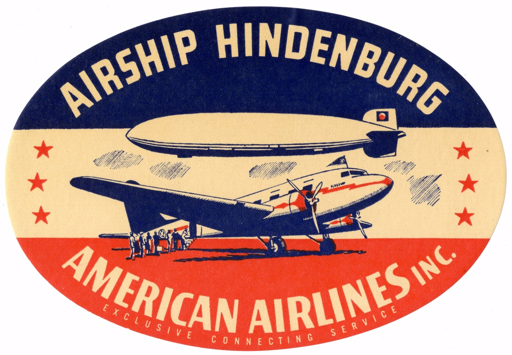 American Airlines-Hindenburg baggage label