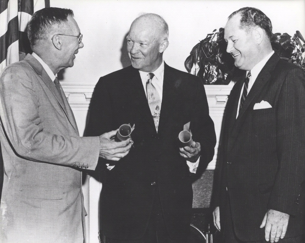President Eisenhower, Keith Glennan and Hugh Dryden