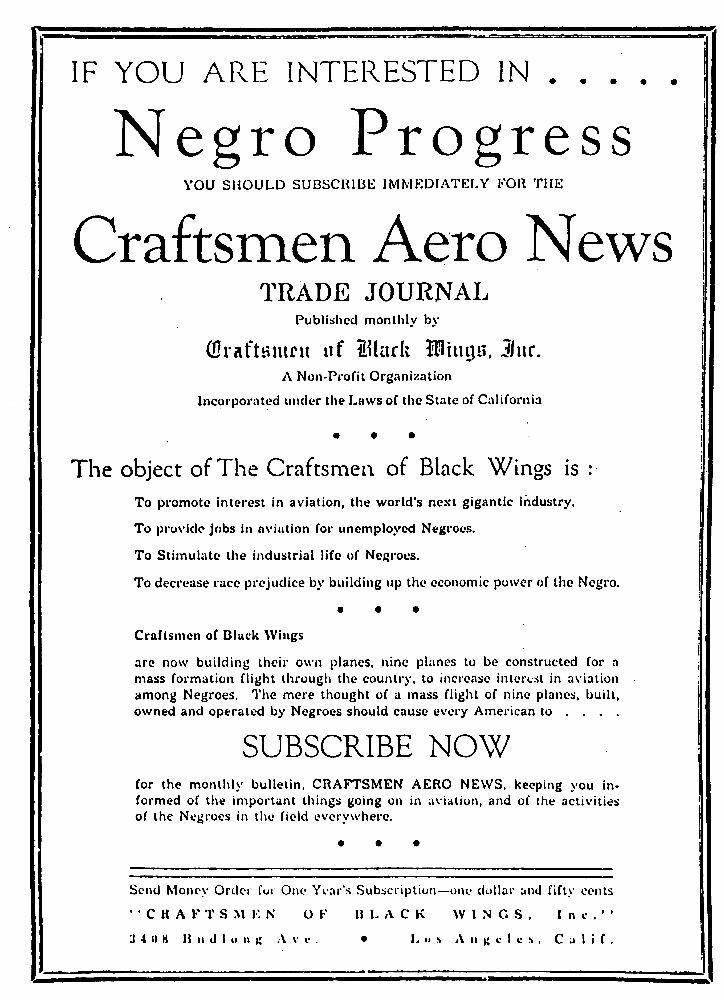 "Flyer: ""Interested in Negro Progress"""