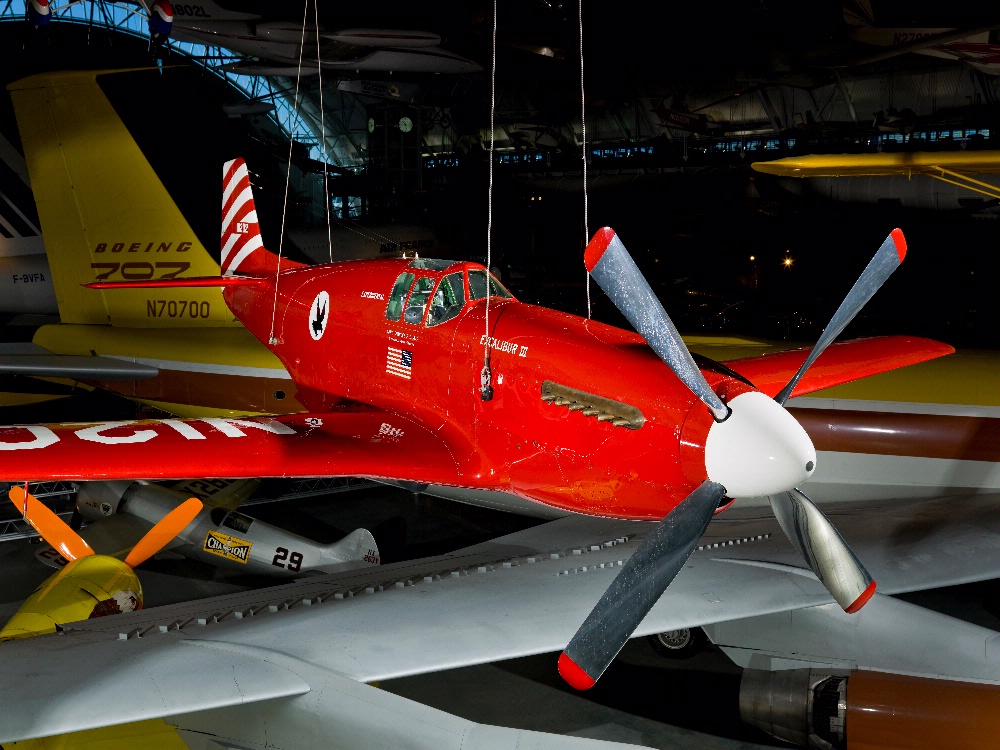 "North American P-51C, ""Excalibur III"" at the Udvar-Hazy Center"