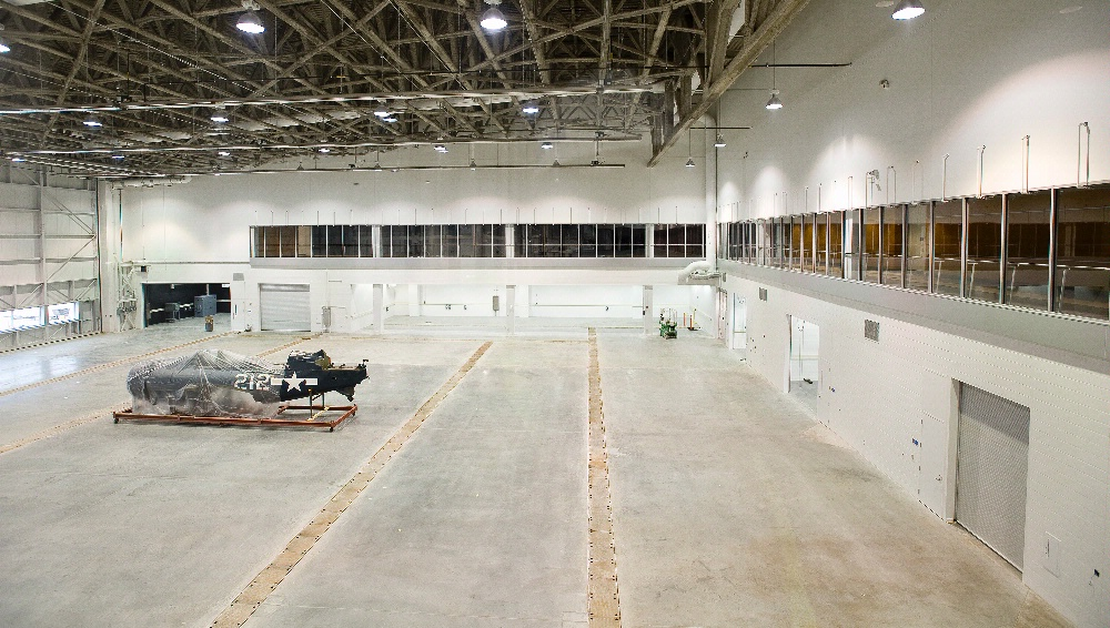 First Aircraft Inside the Mary Baker Engen Restoration Hangar