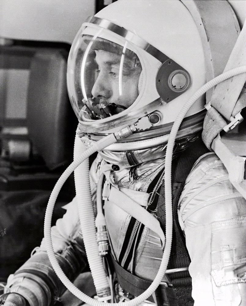 Alan Shepard in Spacesuit before Mercury Launch