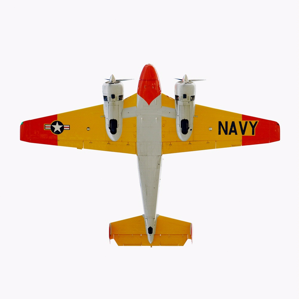 <i>Beechcraft Model 18 (SNB-2)</i> on display in <i>The Jet As Art</i>
