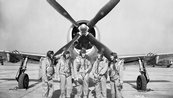 NACA Test Pilots with P-47 Thunderbolt Figher