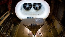Boeing X-48 in Full Scale Wind Tunnel