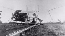 Sir Hiram Maxim's unsuccesful 1894 aircraft