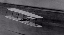 The Wright 1901 Glider in Flight