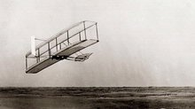 The 1902 Wright Glider in Flight, Side View