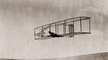 The 1902 Wright Glider in Flight