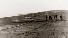 1903 Wright Flyer on Launching Rail