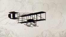 Flying in 1910 - Graham-White's Farman