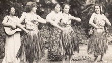 Hula Dancers and Musicians