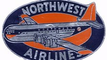 Northwest Airlines Label